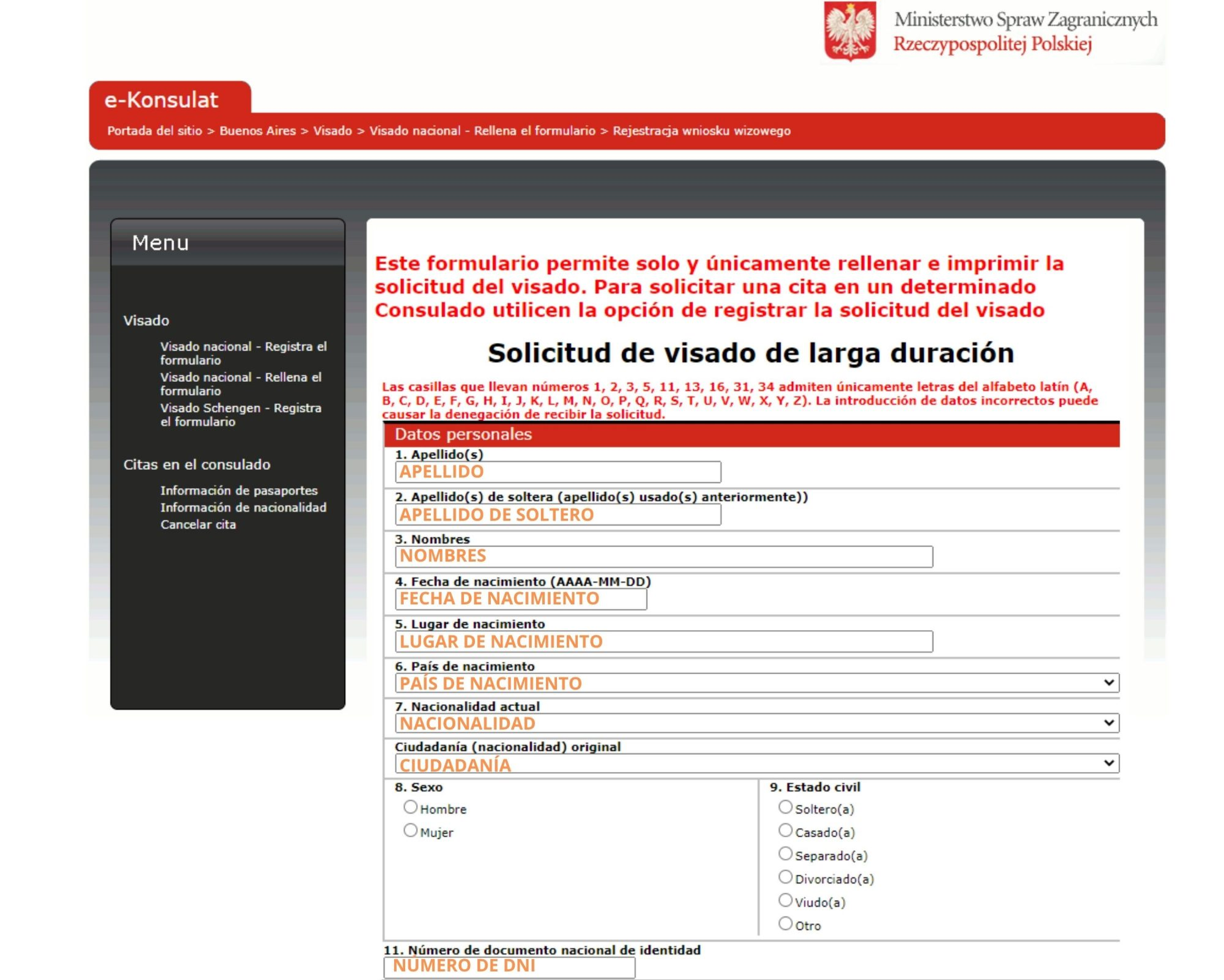 requisitos para visa de trabajo en polonia